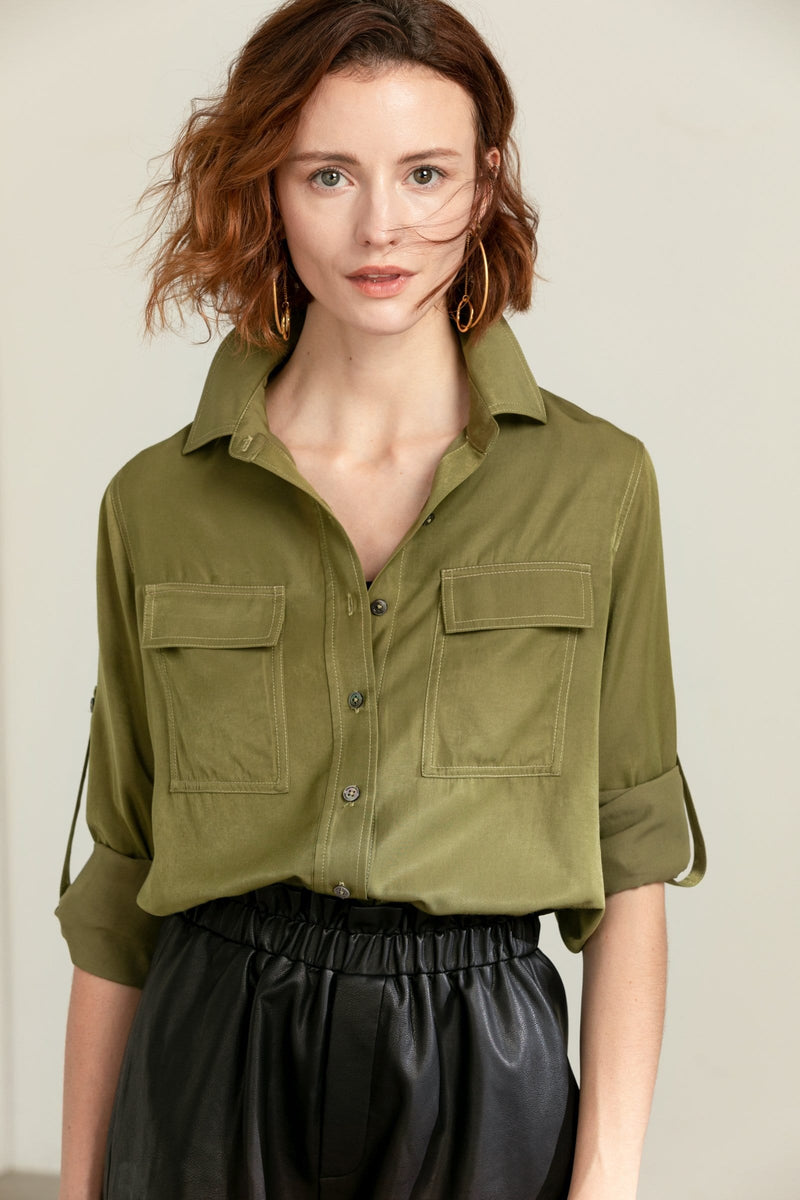 Vetiver Green Dress Shirt