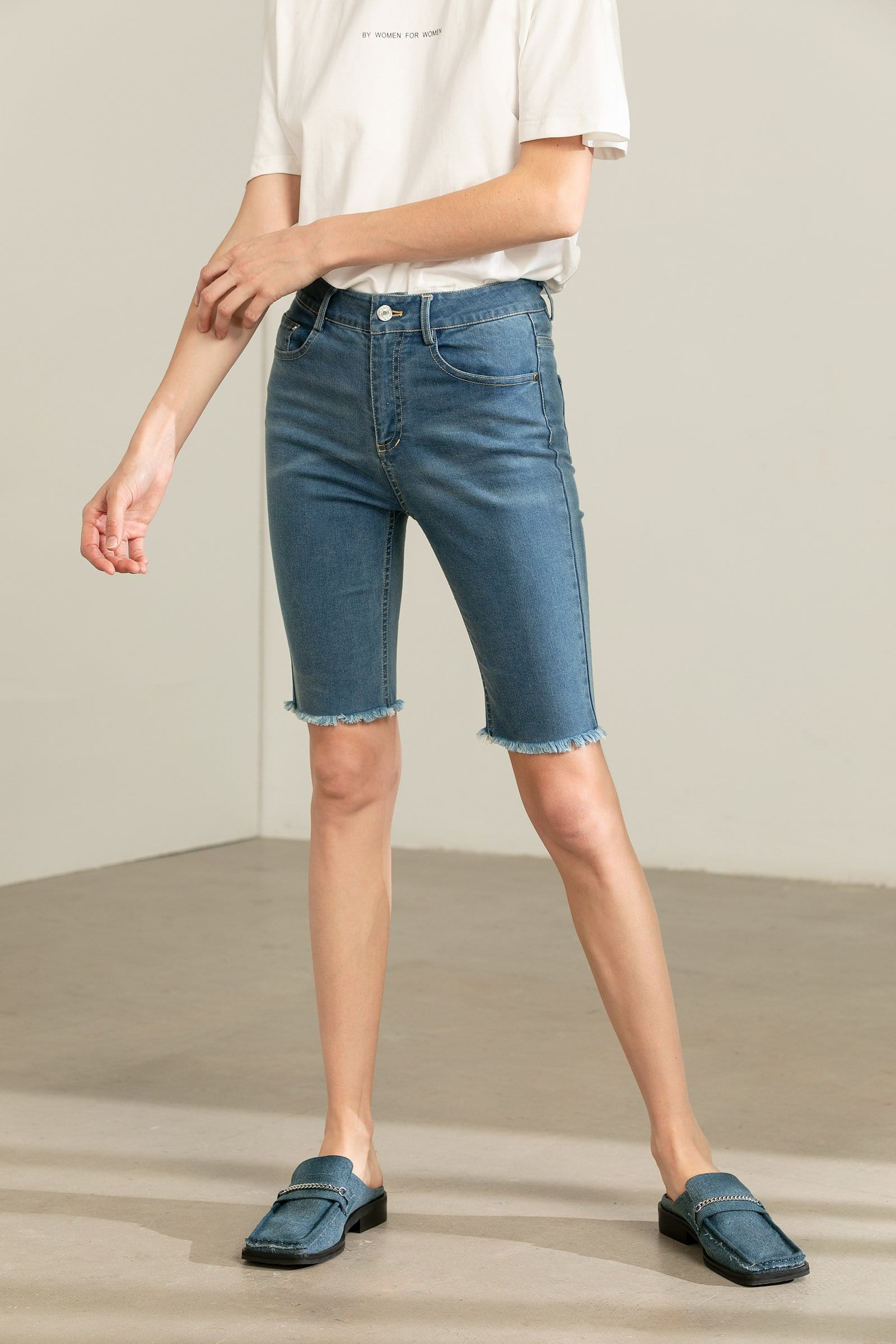 Anarcho Navy Cut-Off Shorts