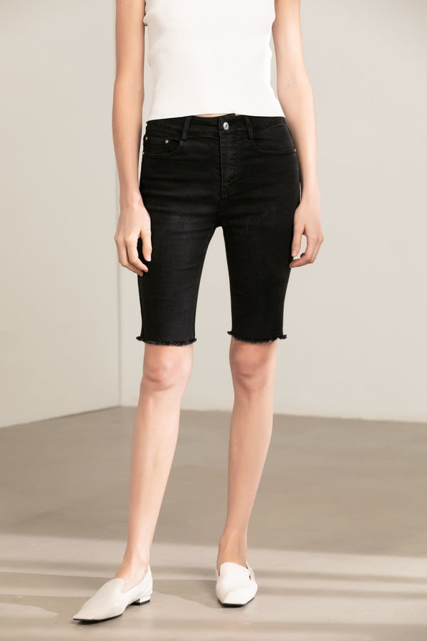 Anarcho Black Cut-Off Shorts