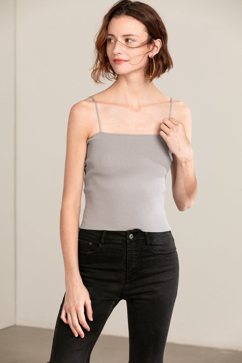 Grey Spaghetti Strap Top