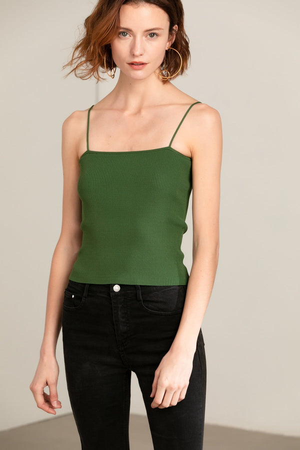 Green Spaghetti Strap Top