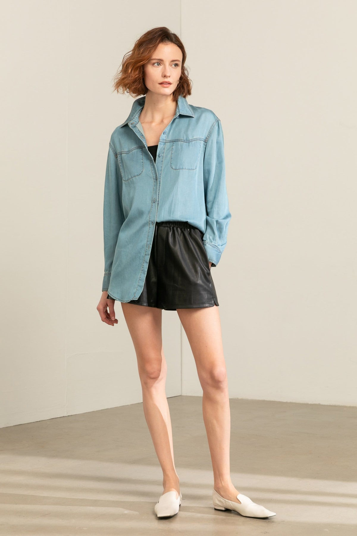 Dana Denim Button Up Shirt