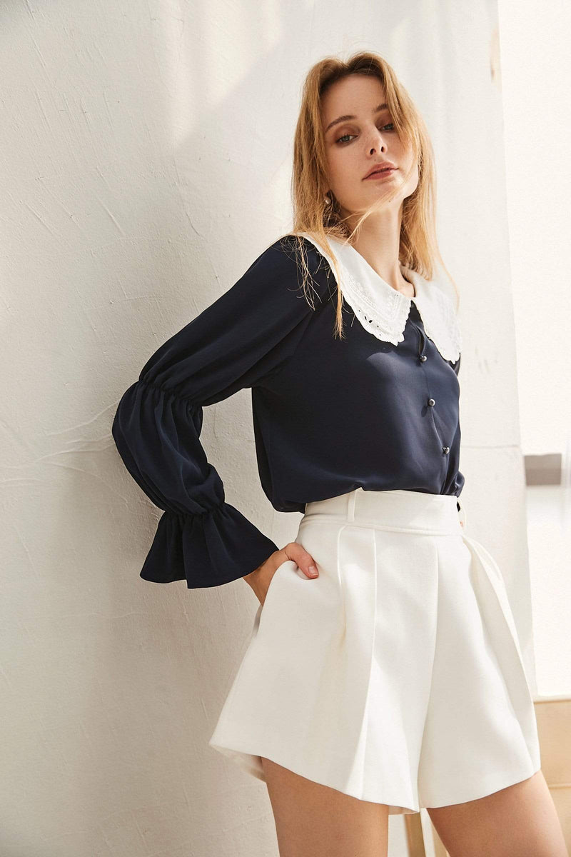 Alice Navy Collar Blouse