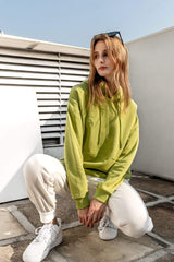 Chartreuse Drawstring Hoodie
