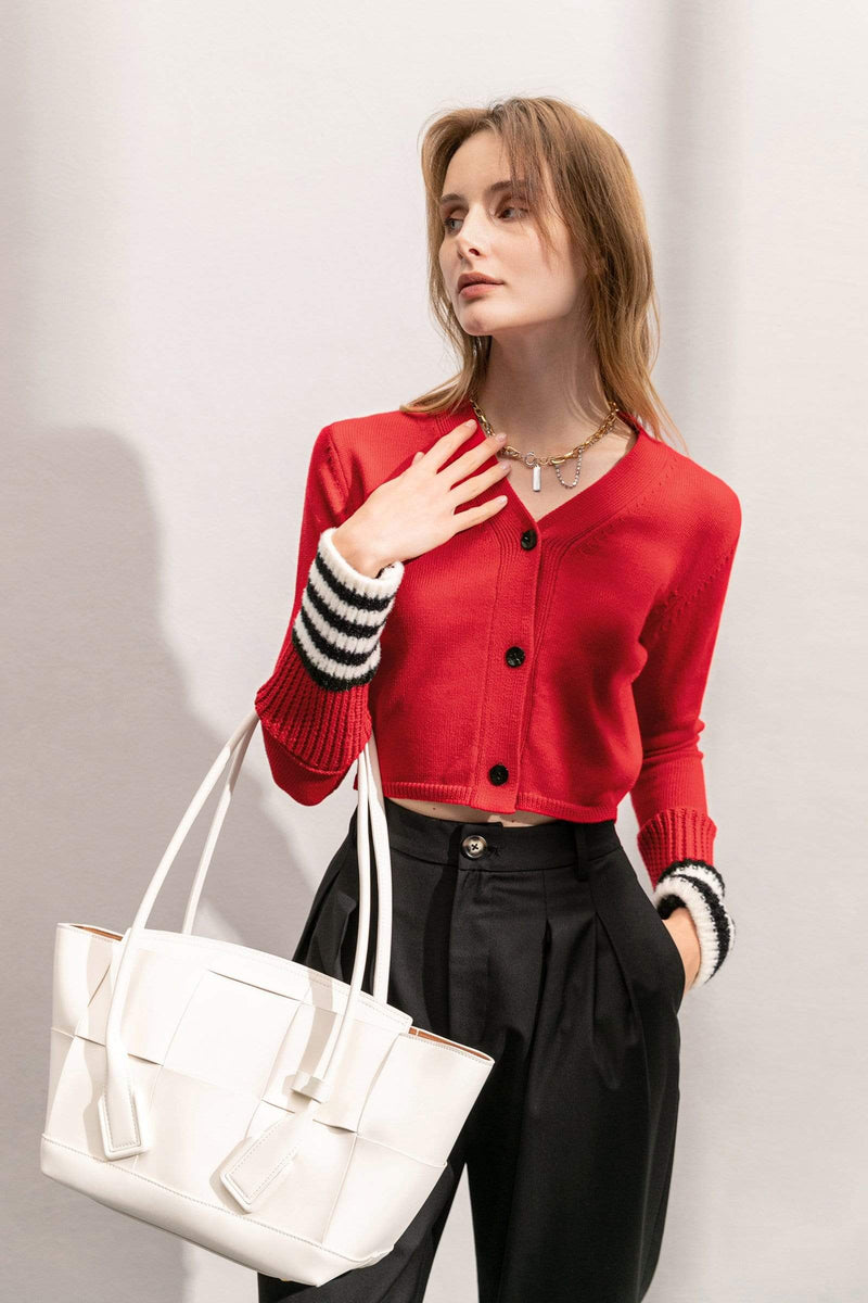 Retro Play Red Cardigan