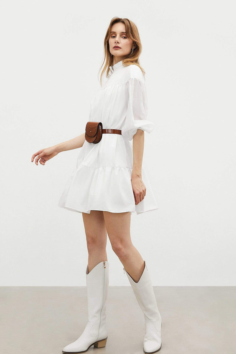 Sheer White Shirt Dress