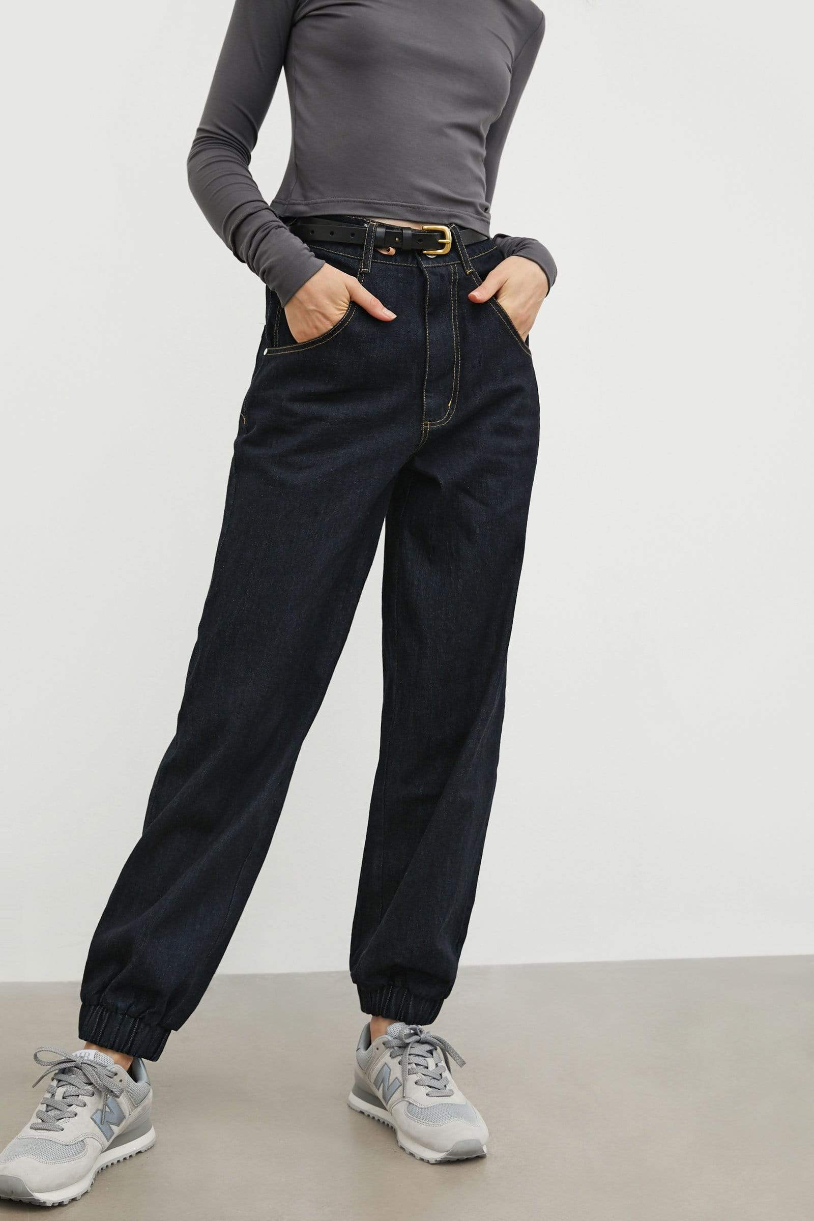 Georgie Navy Balloon Pants