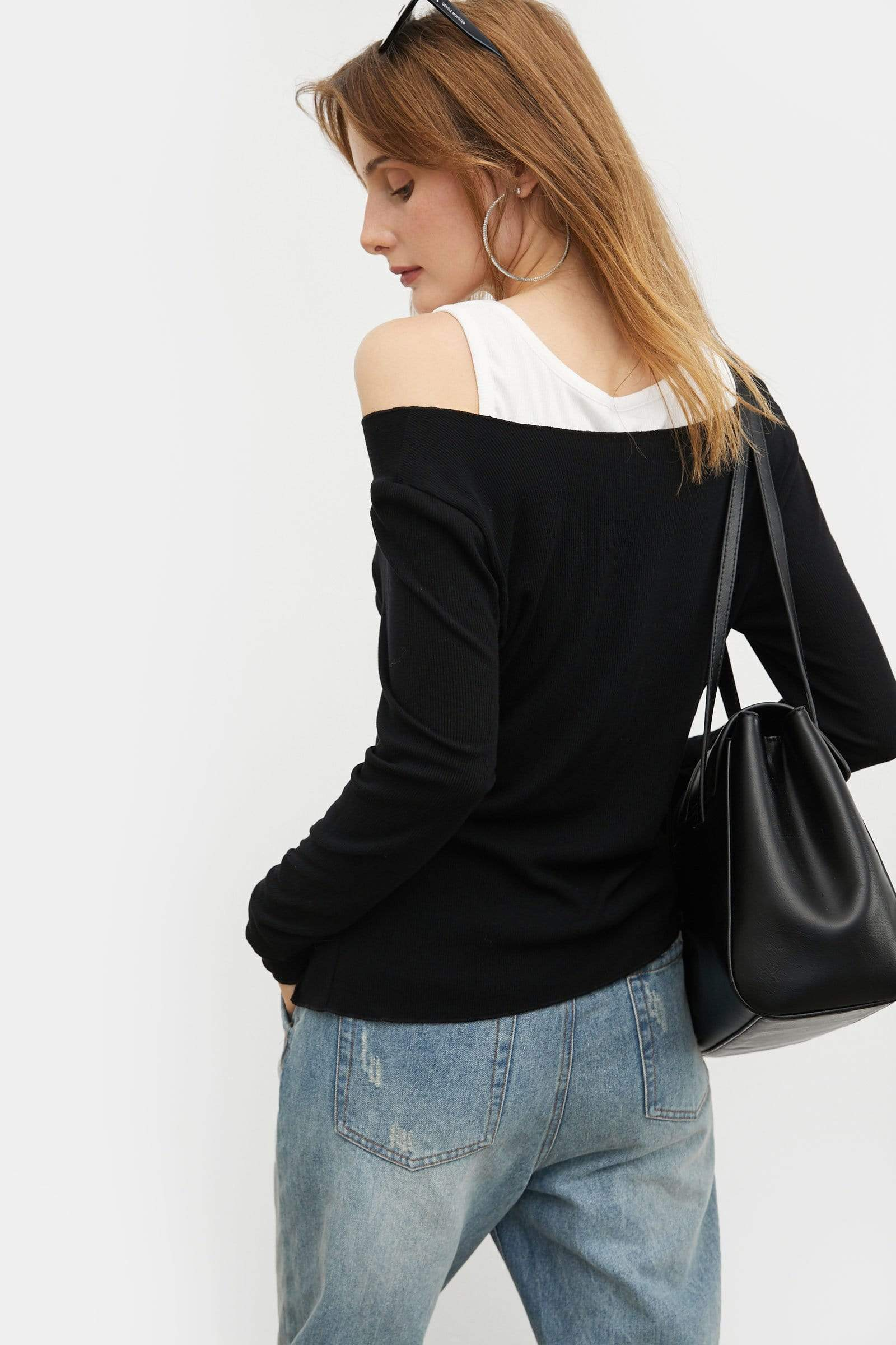 Layered Black Slim Tee