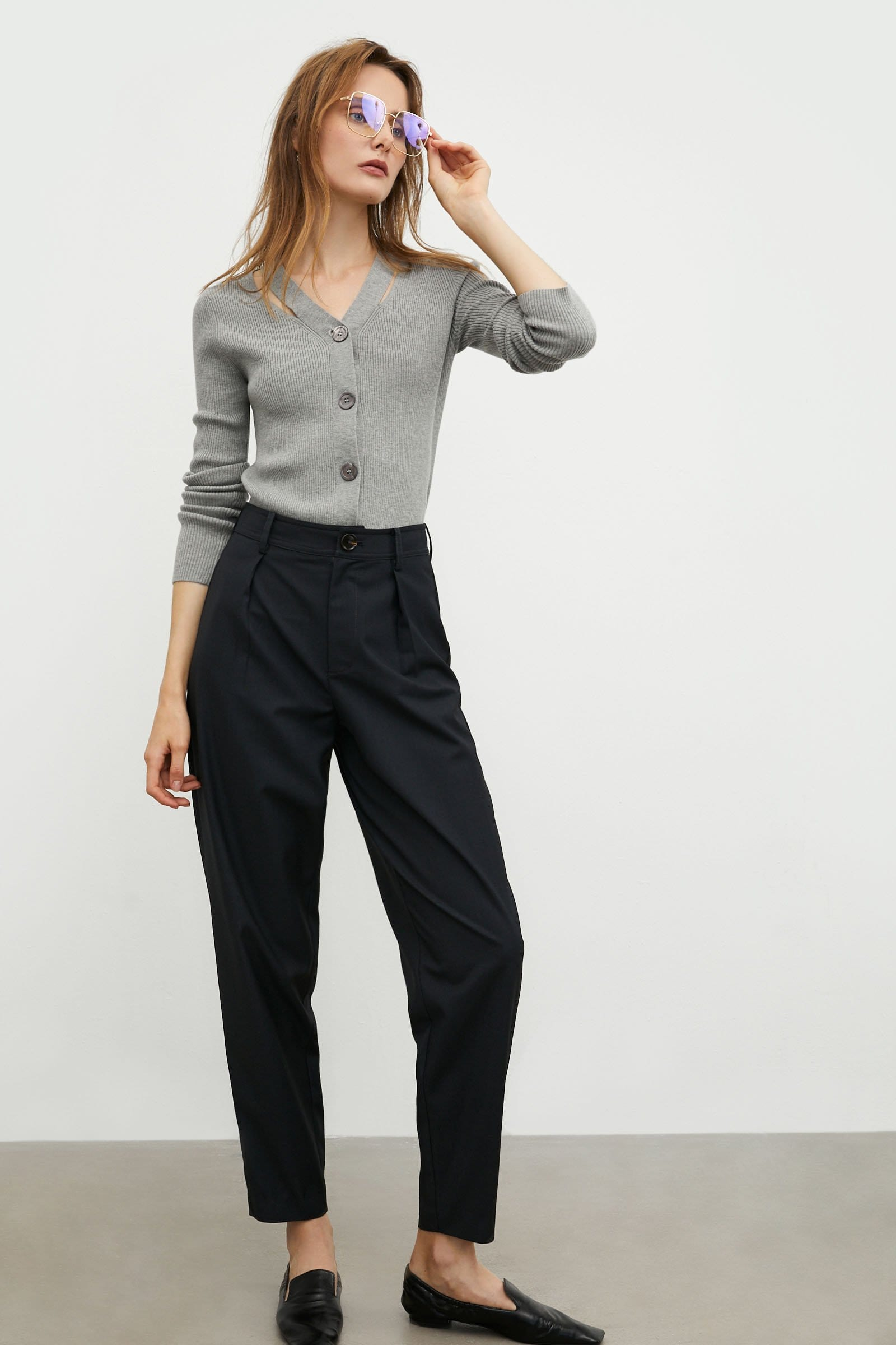 Vanya Steel Tapered Trousers