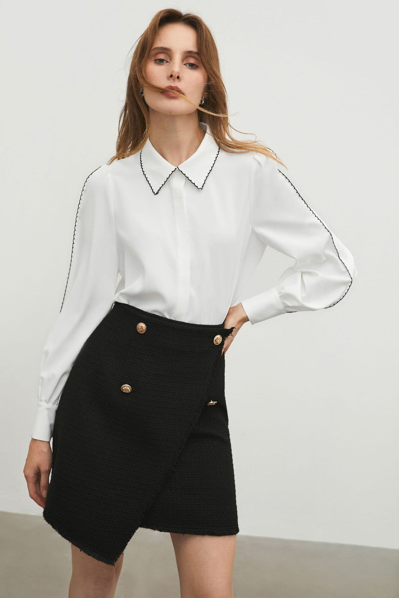 Prep White Collar Blouse