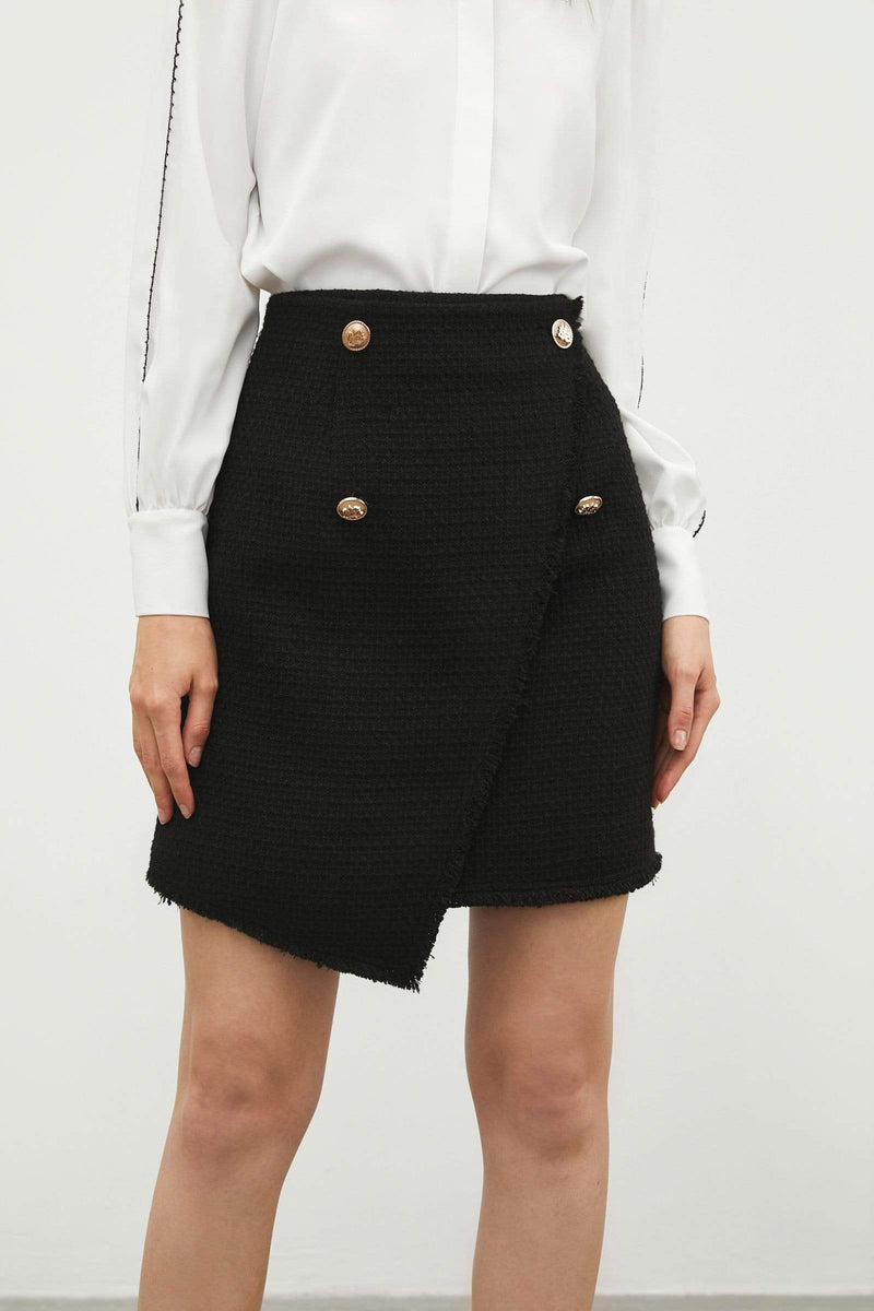 Lillia Black Envelope Skirt