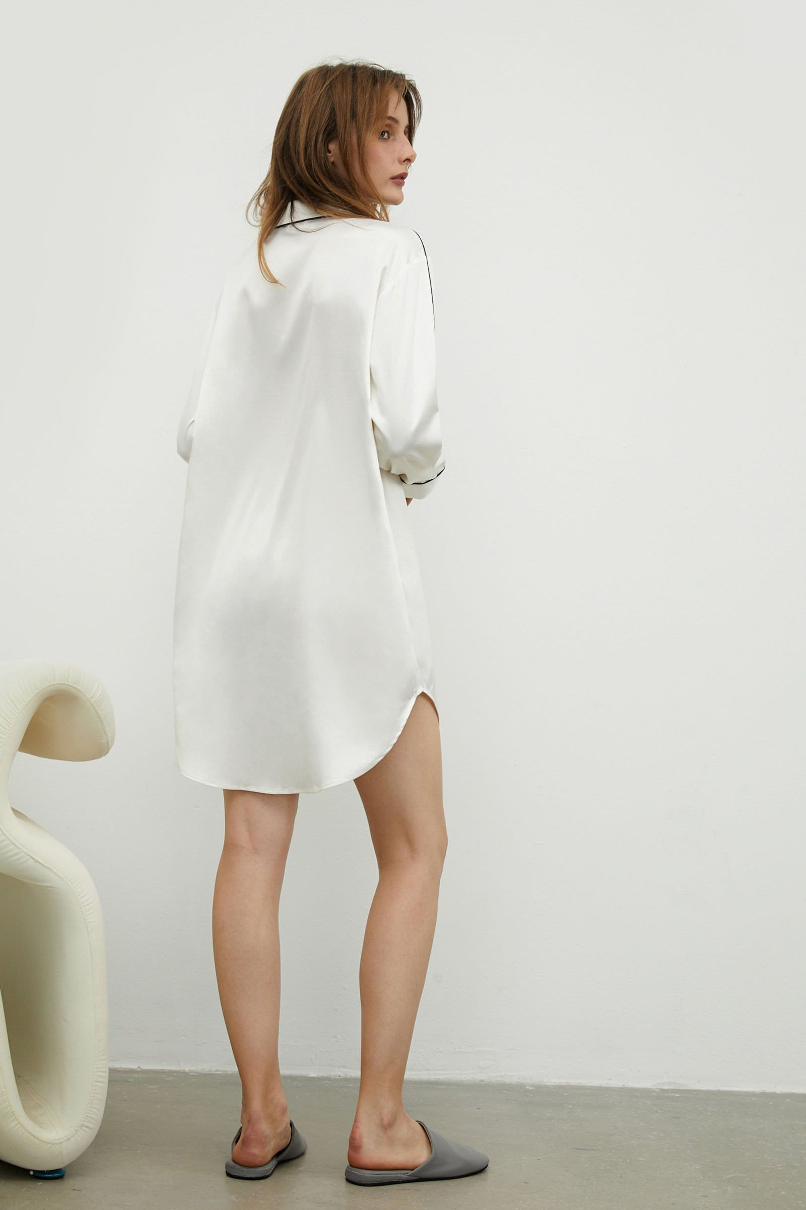 Satin Ivory Sleep Dress