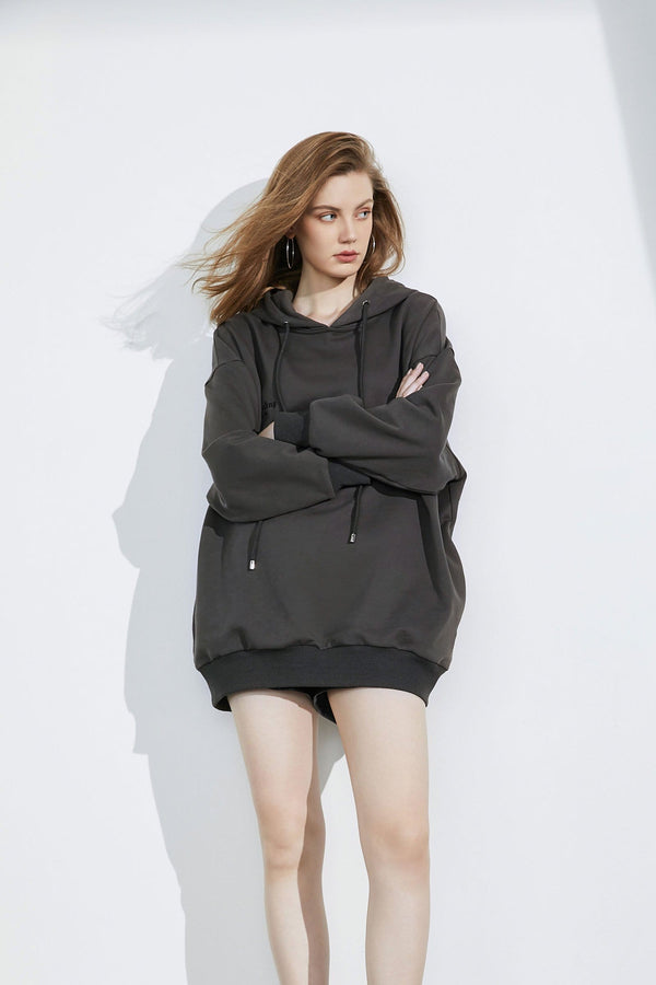 Dazzling Charcoal Oversized Hoodie