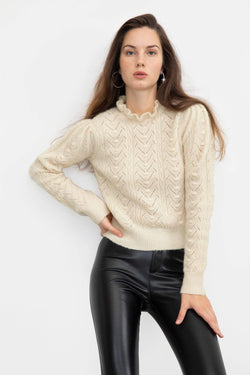 Rosie Ivory Cable Knit Sweater