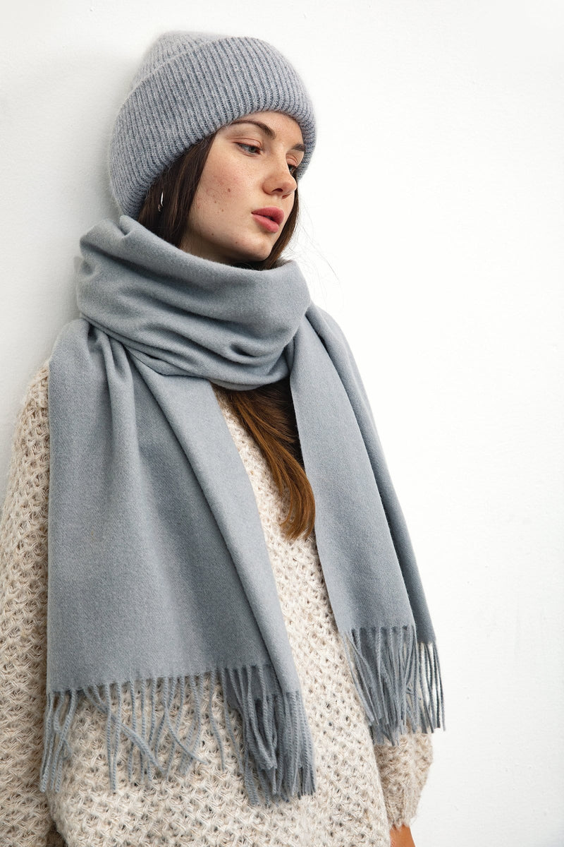 Grey Long Scarf