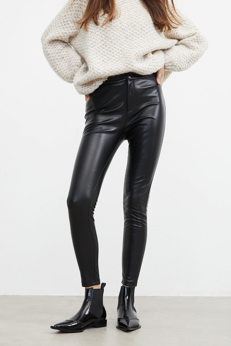 Sleek Black Biker Pants