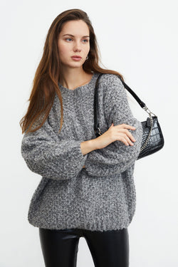 Marley Grey Beehive Sweater