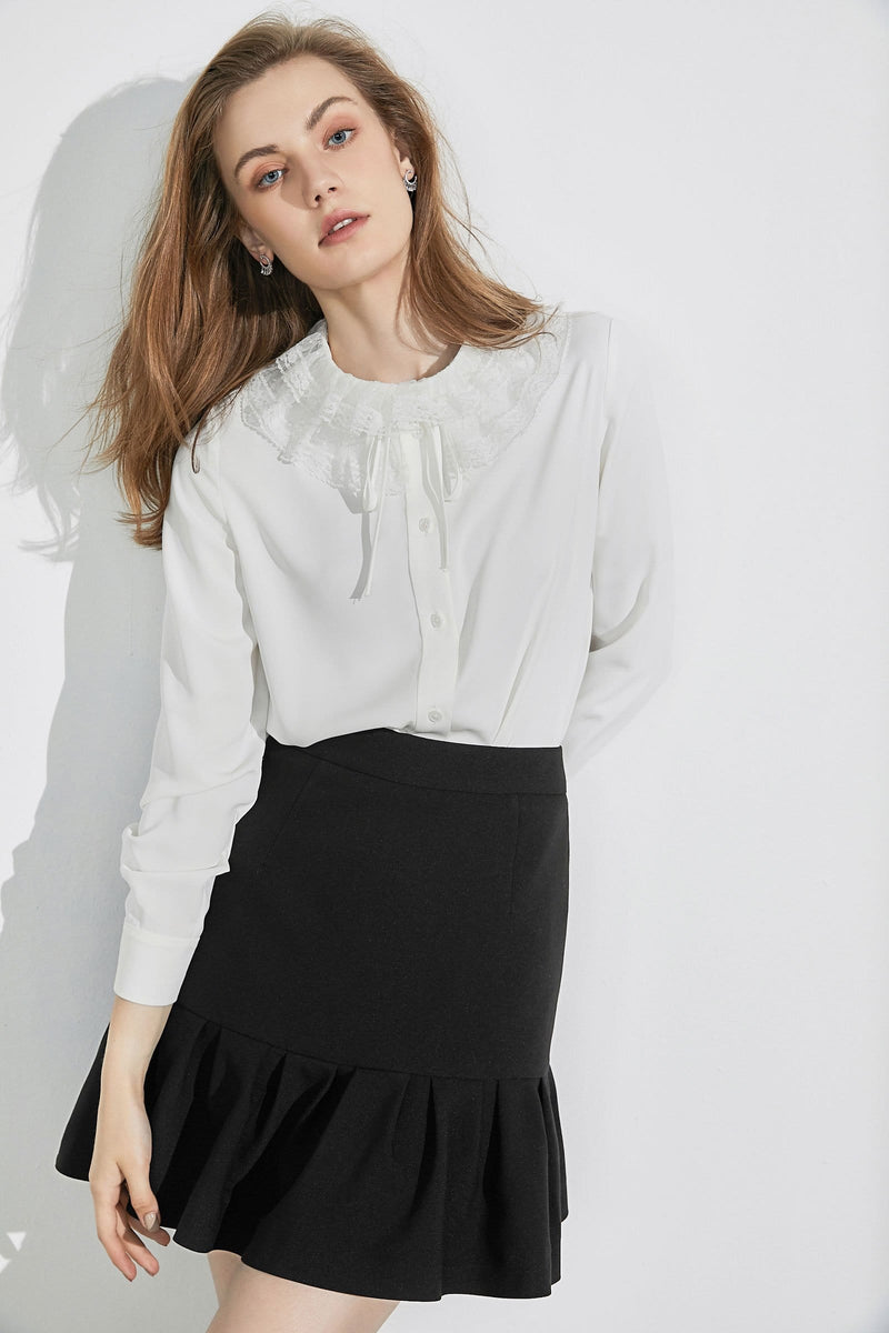 Duchess Lace Collar Blouse