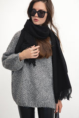 Black Long Scarf