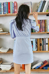Alyssa Powder Blue Collared Shirt Dress