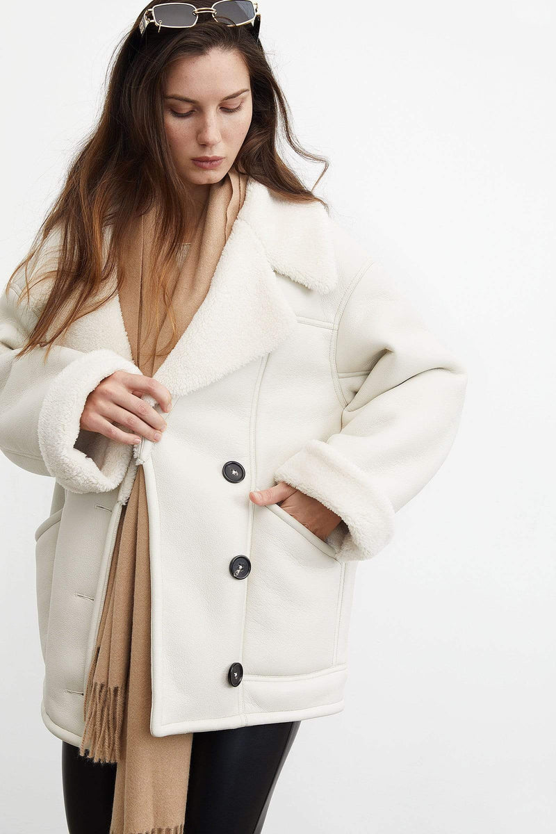 Cozy Ivory Oversized Coat
