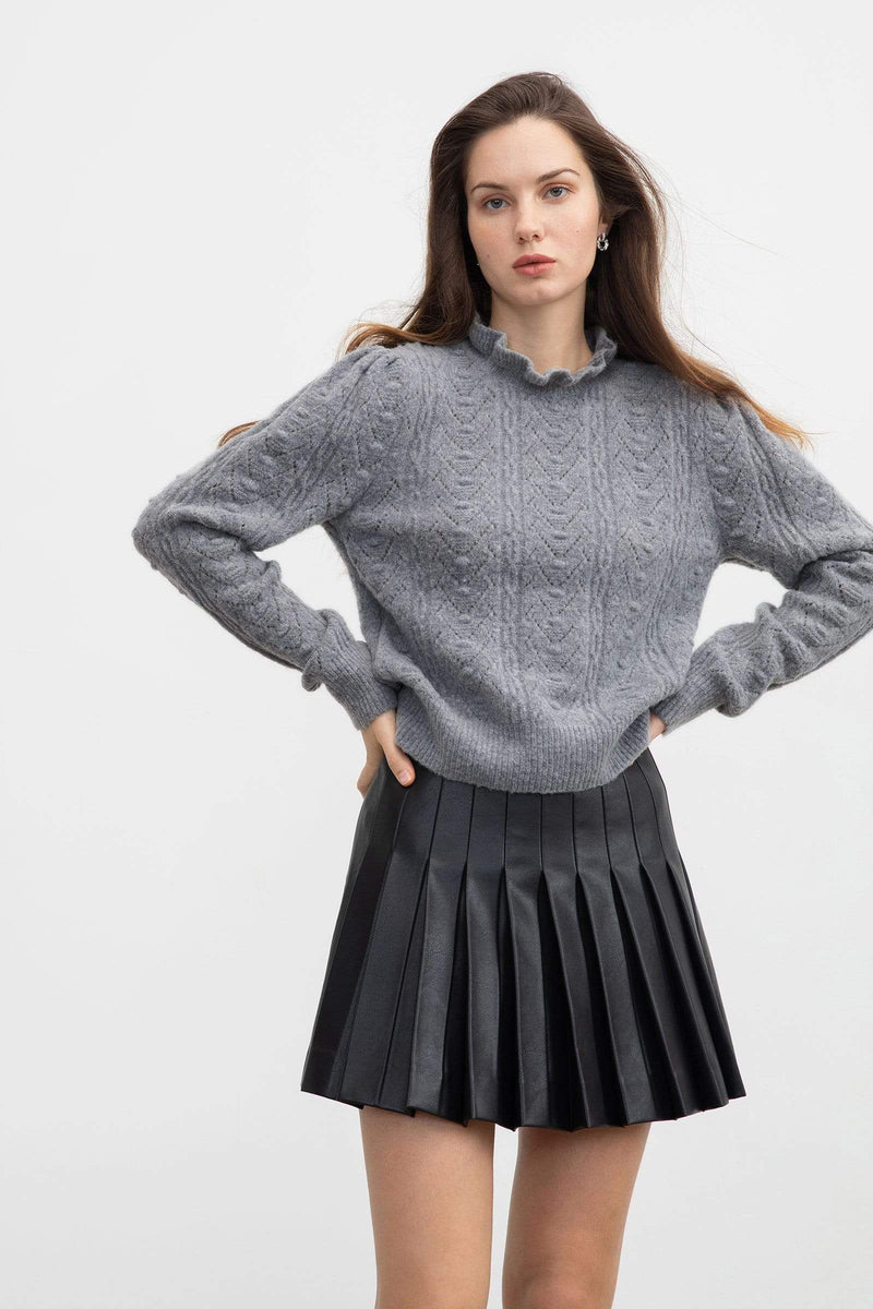 Rosie Grey Cable Knit Sweater