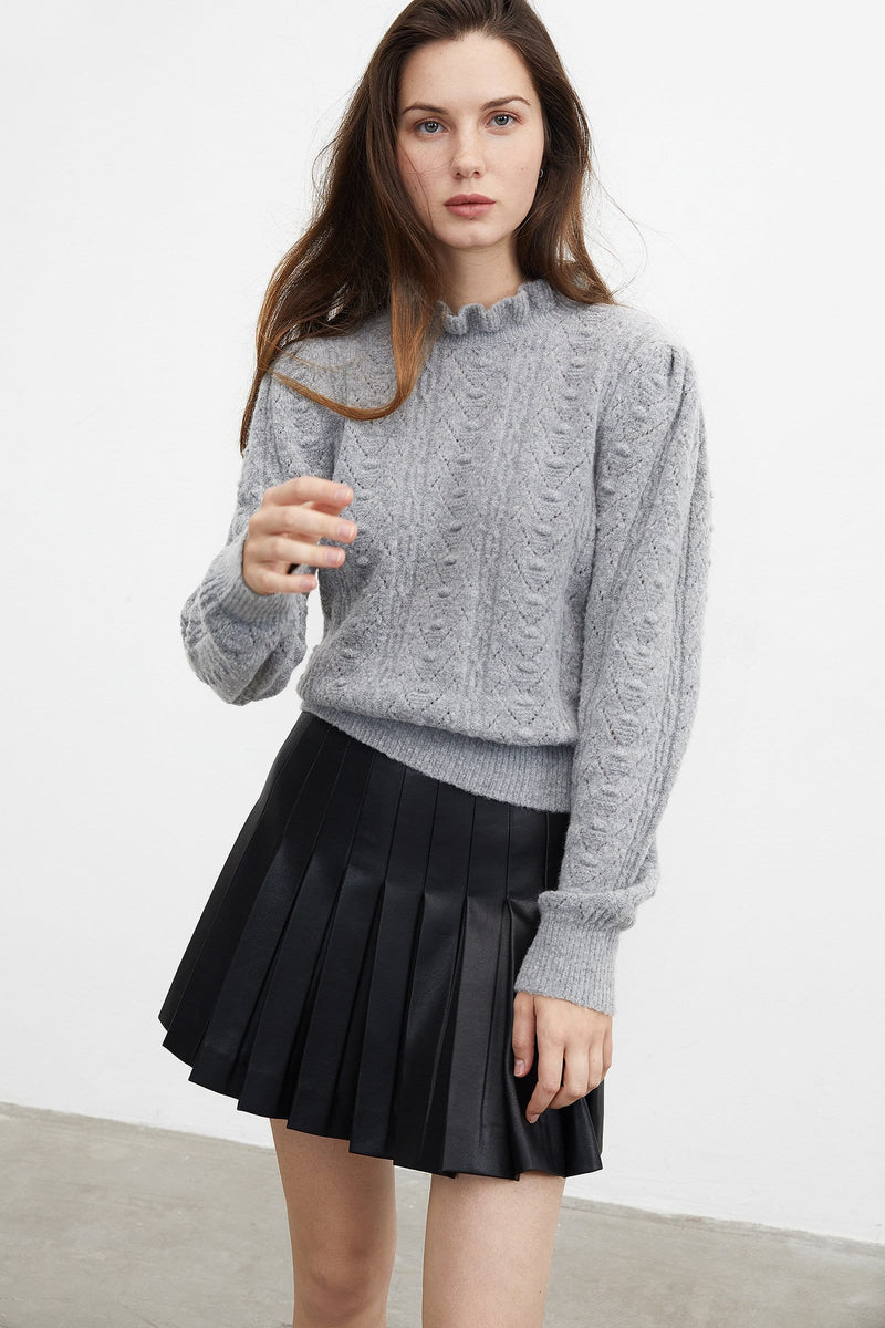 Sleek Black Pleated Skirt