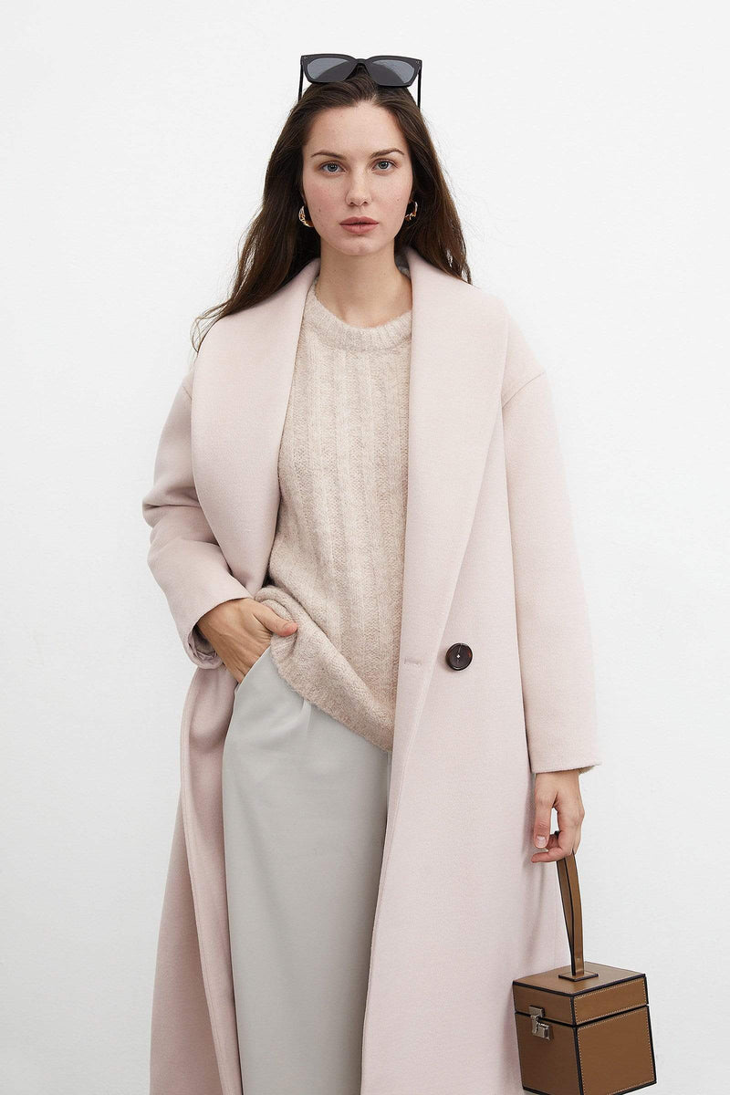 Oversized Light Pink Blazer Coat