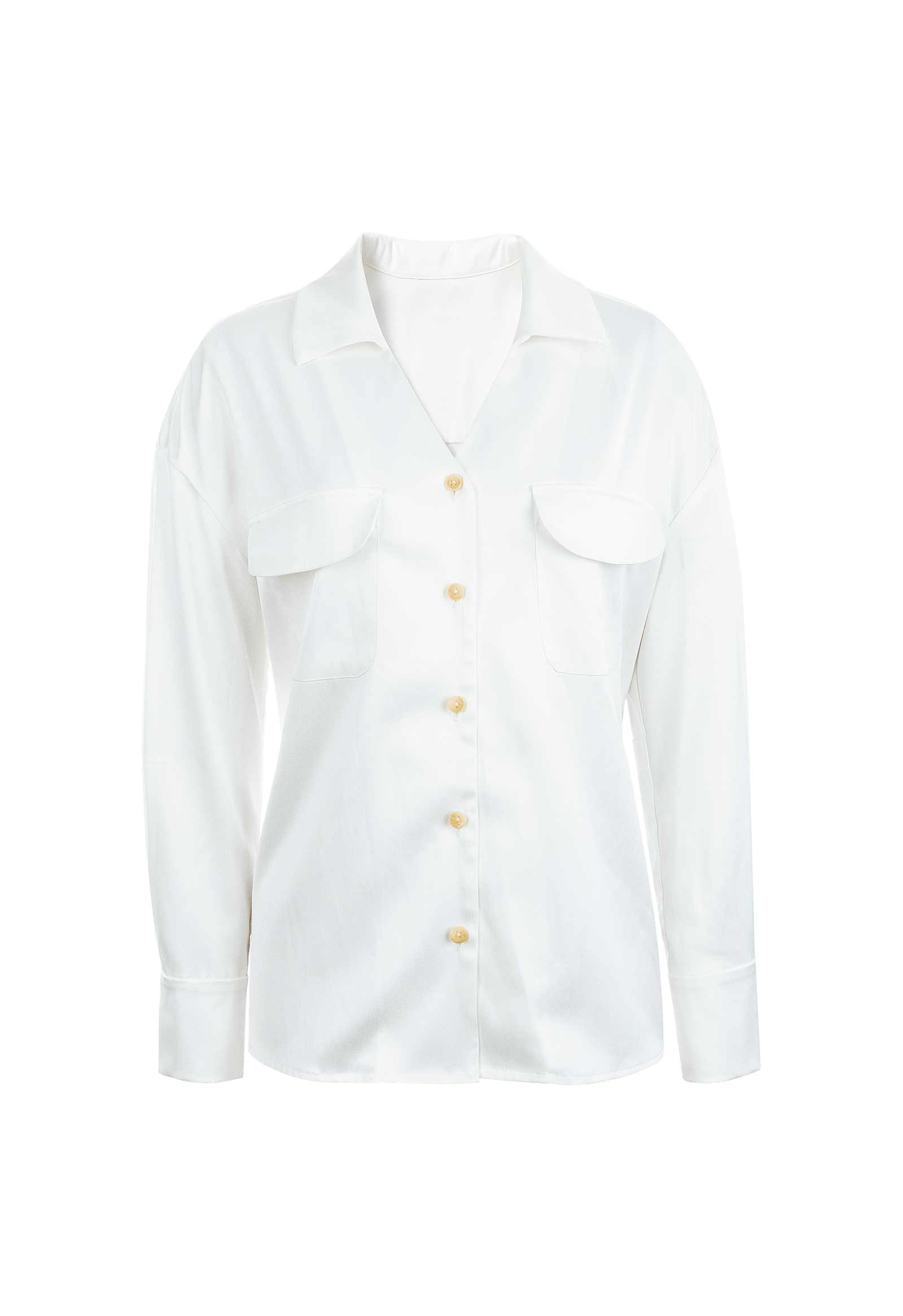 Sally White Oversize Dress Shirt