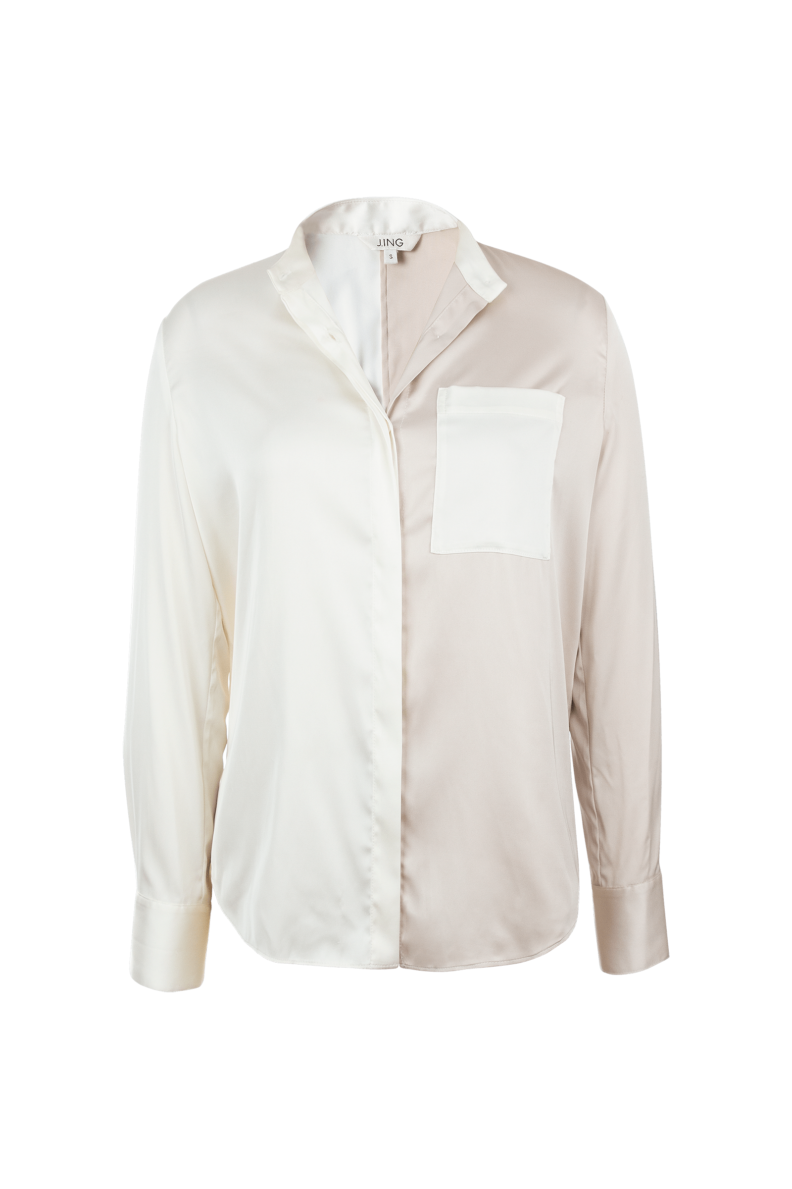 Cleo Champagne SIlky Blouse