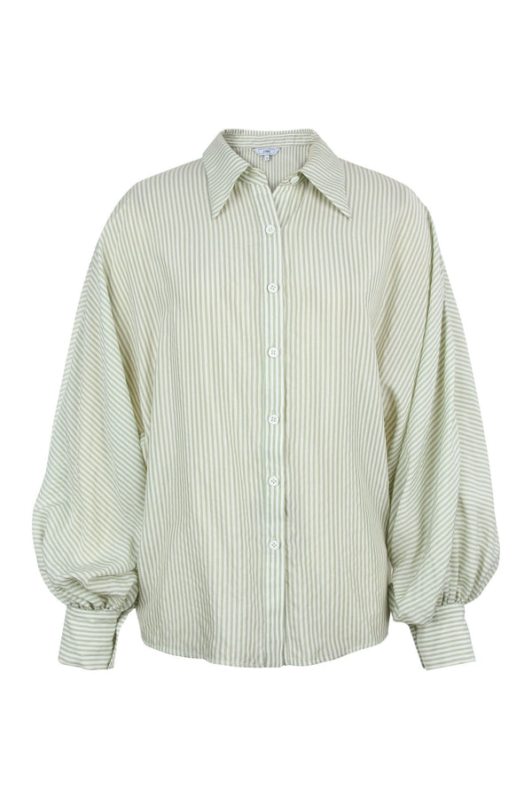 Paige Green Sheer Dress Shirt