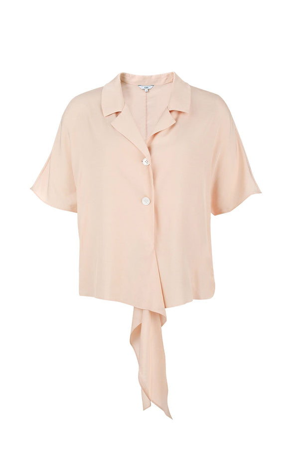 Jessica Peach Waist Tied Top
