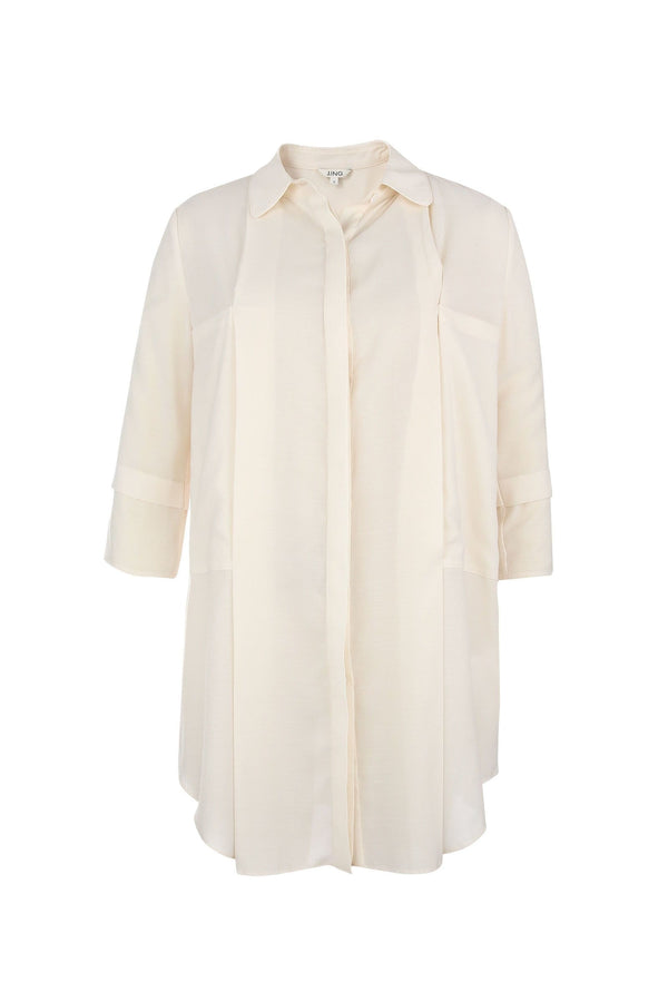 Rachel Basic White Shirt Dress