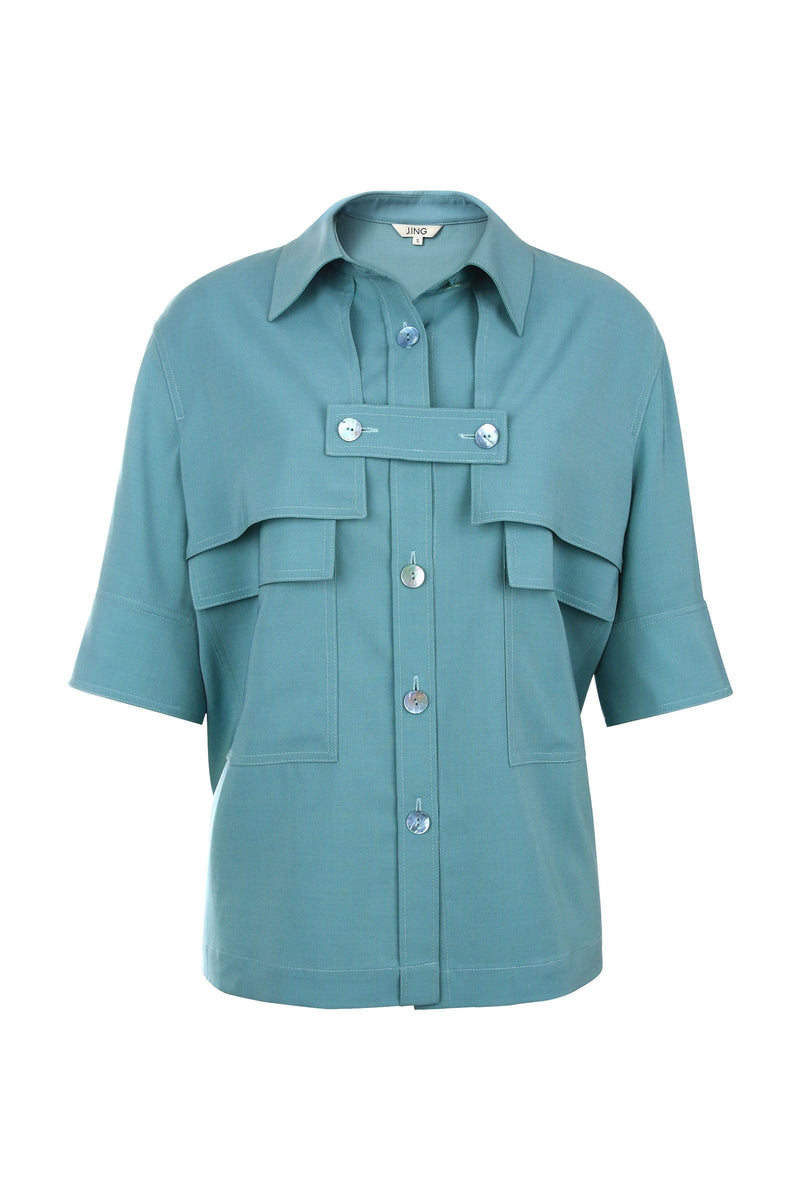 Skylar Blue Button Shirt