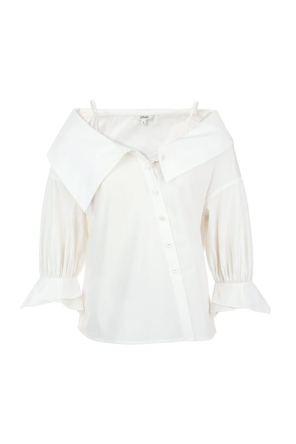 Oksana White Off Shoulder Blouse