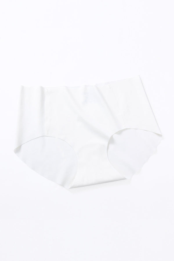 White Seamless Mid-Waist Brief (1 pack)