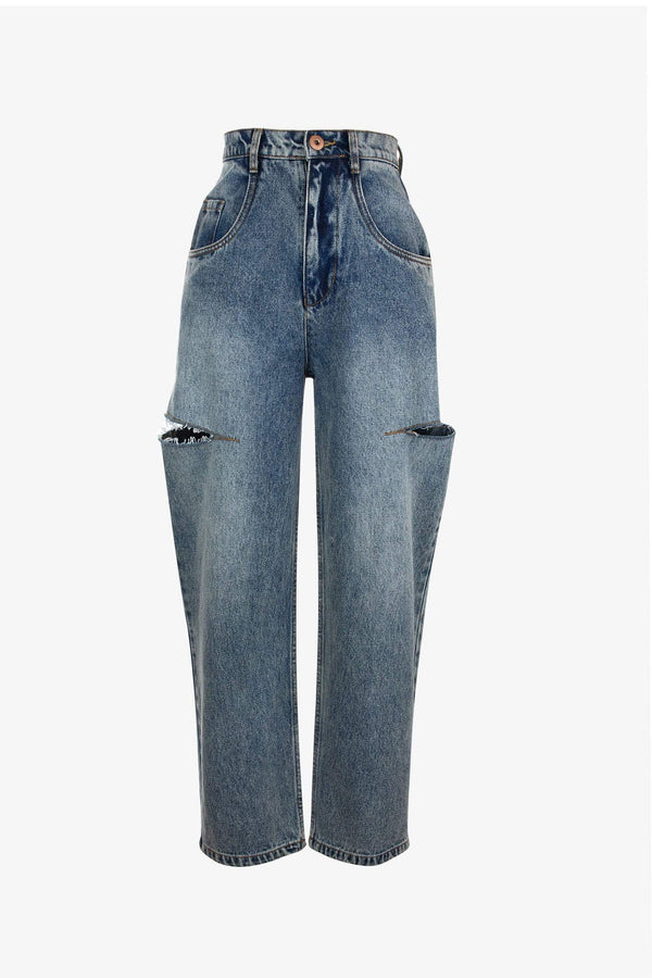 Hunter Double Rip Wide Jeans