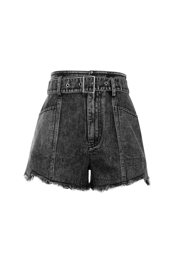 Mindy Acid Wash Denim Shorts