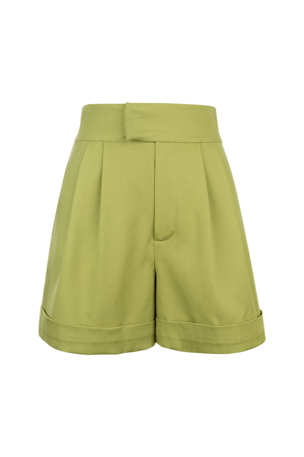 Yvette Green Dress Shorts
