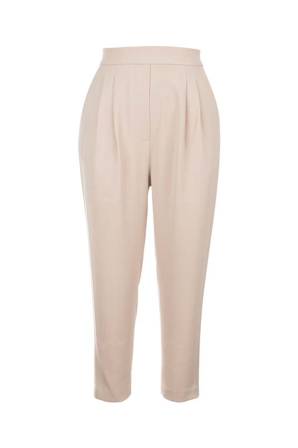 Nina Almond Pleated Trousers