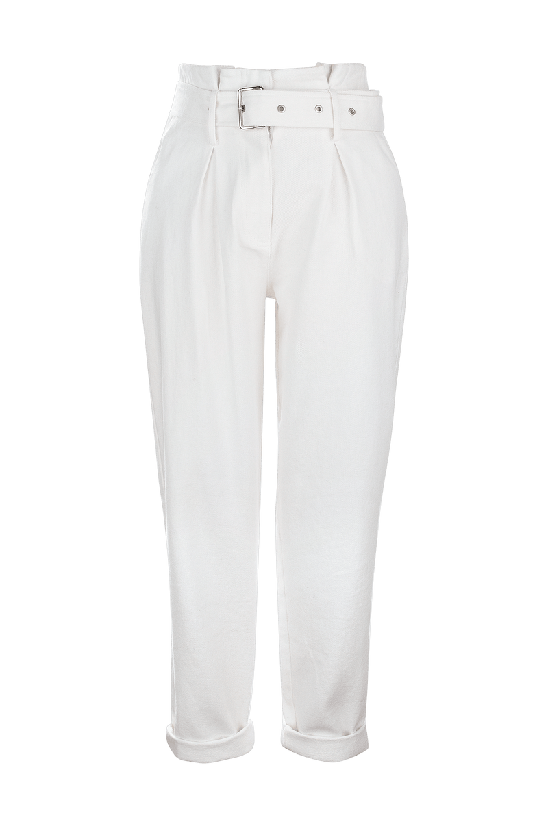 Eileen White Cuffed Trousers