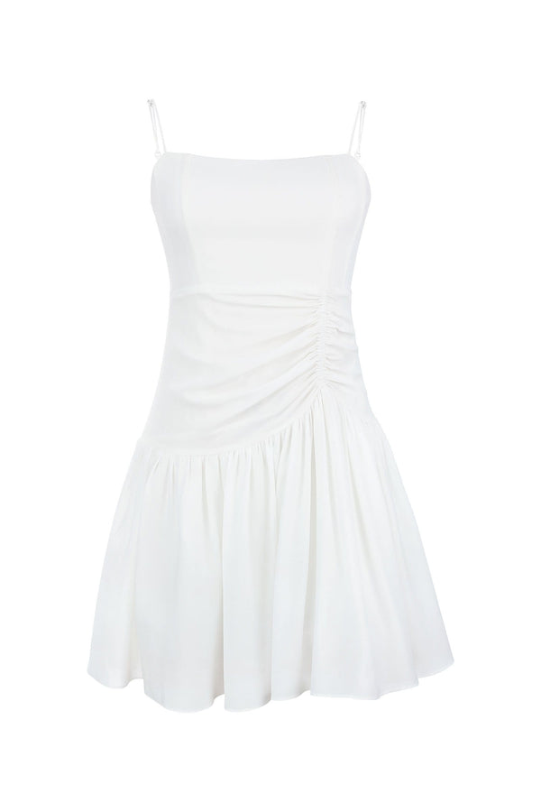 Hermia White Fairy Mini Dress