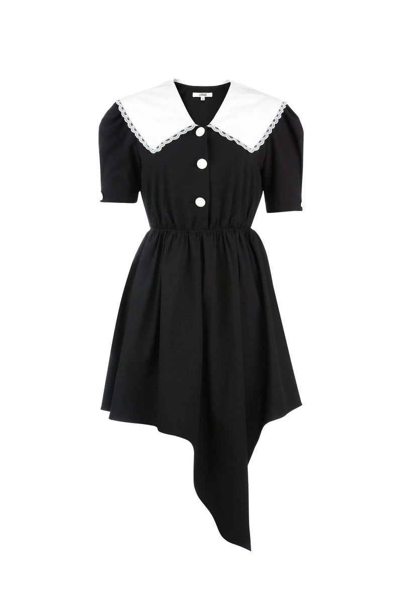 Princeton Black Pilgrim Collar Dress