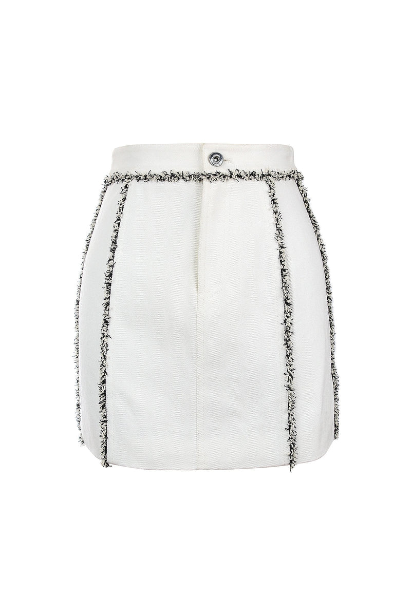 Bonnie White Denim Skirt