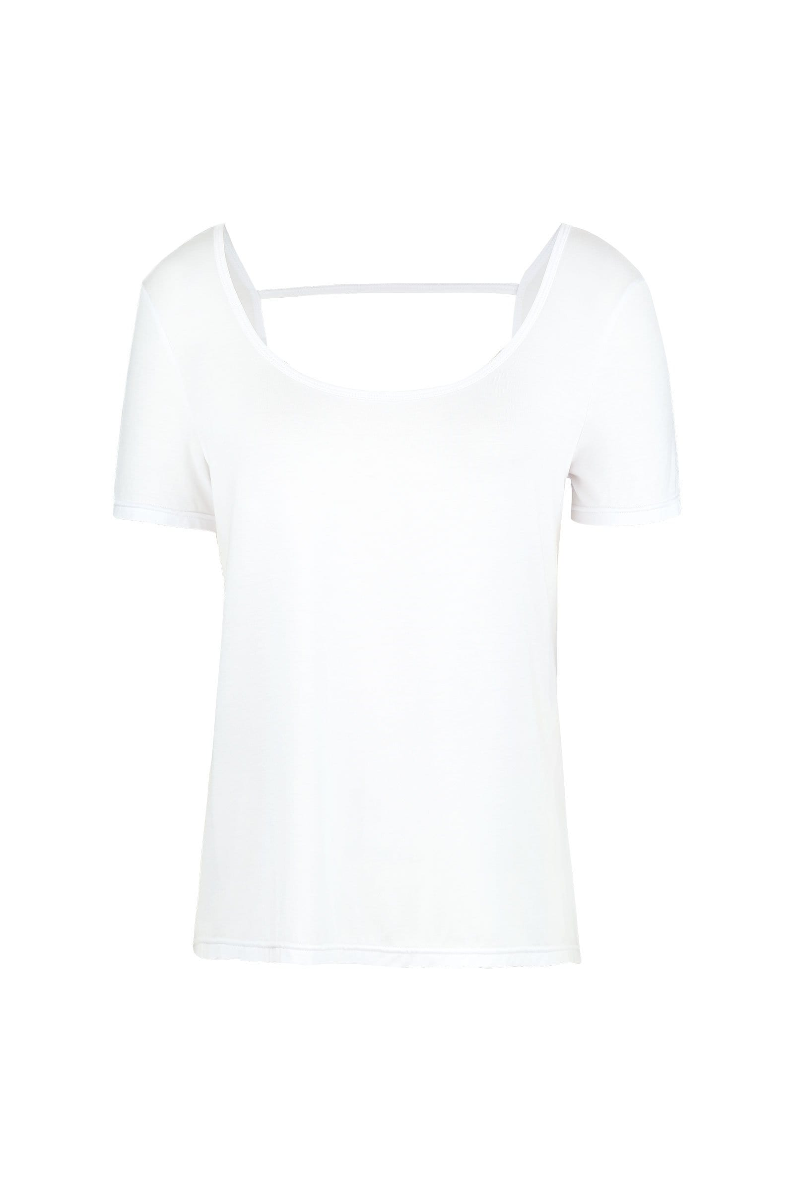 Canyon White Backless Active Tee