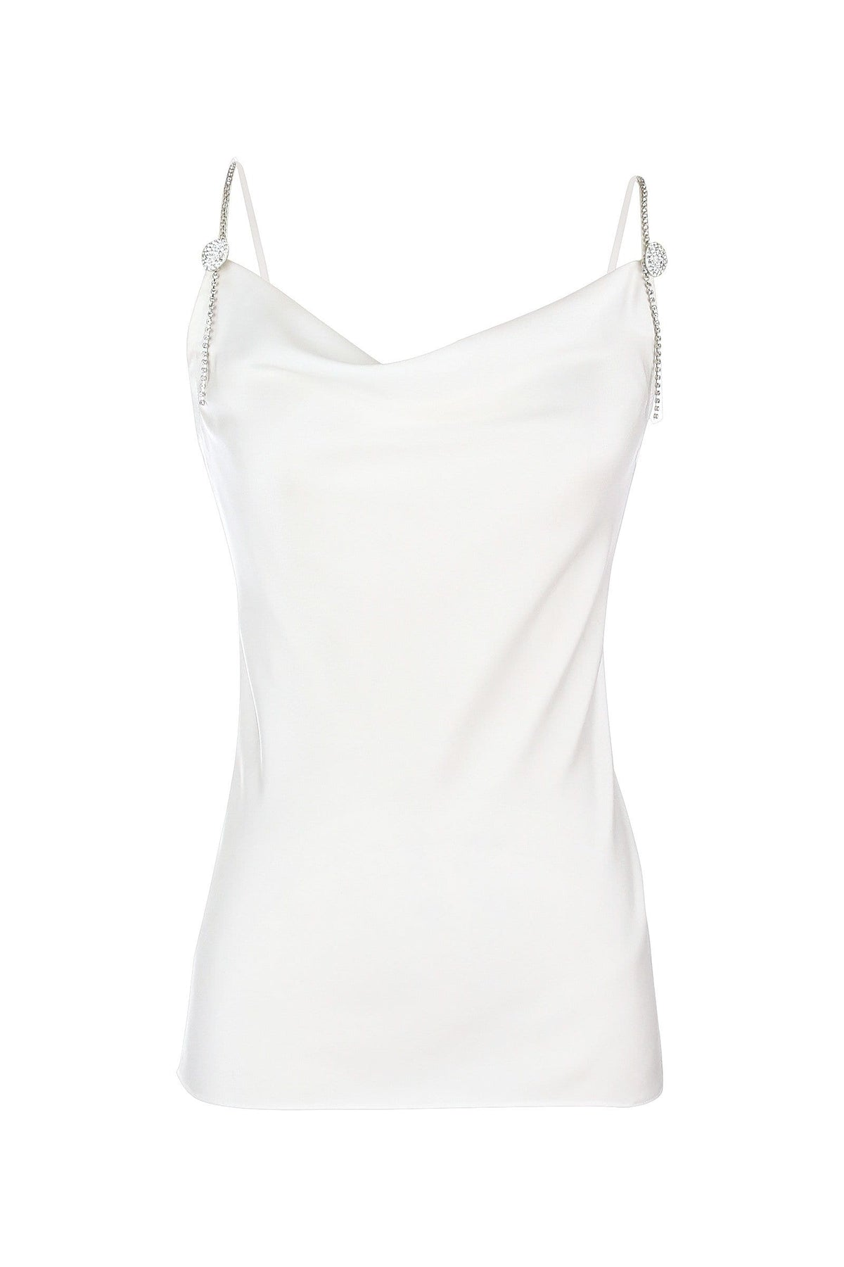 Dita White Star-Studded Top