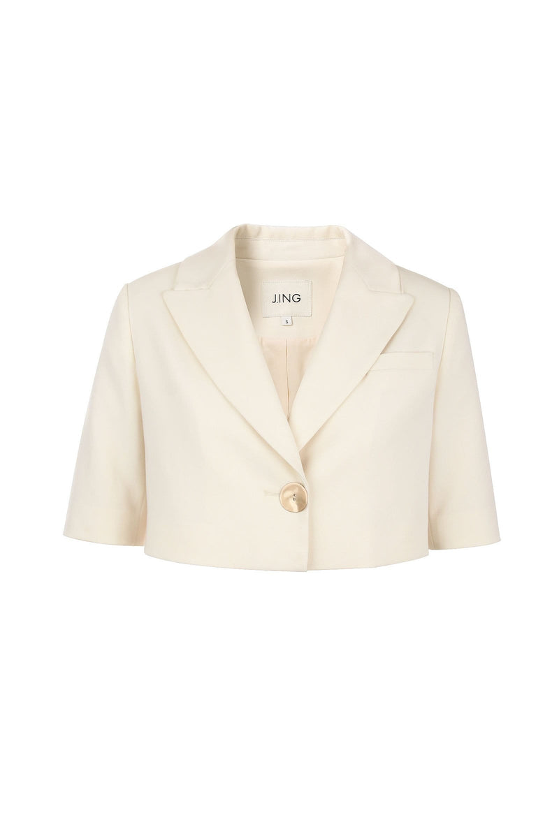 DaniLeigh White Cropped Blazer