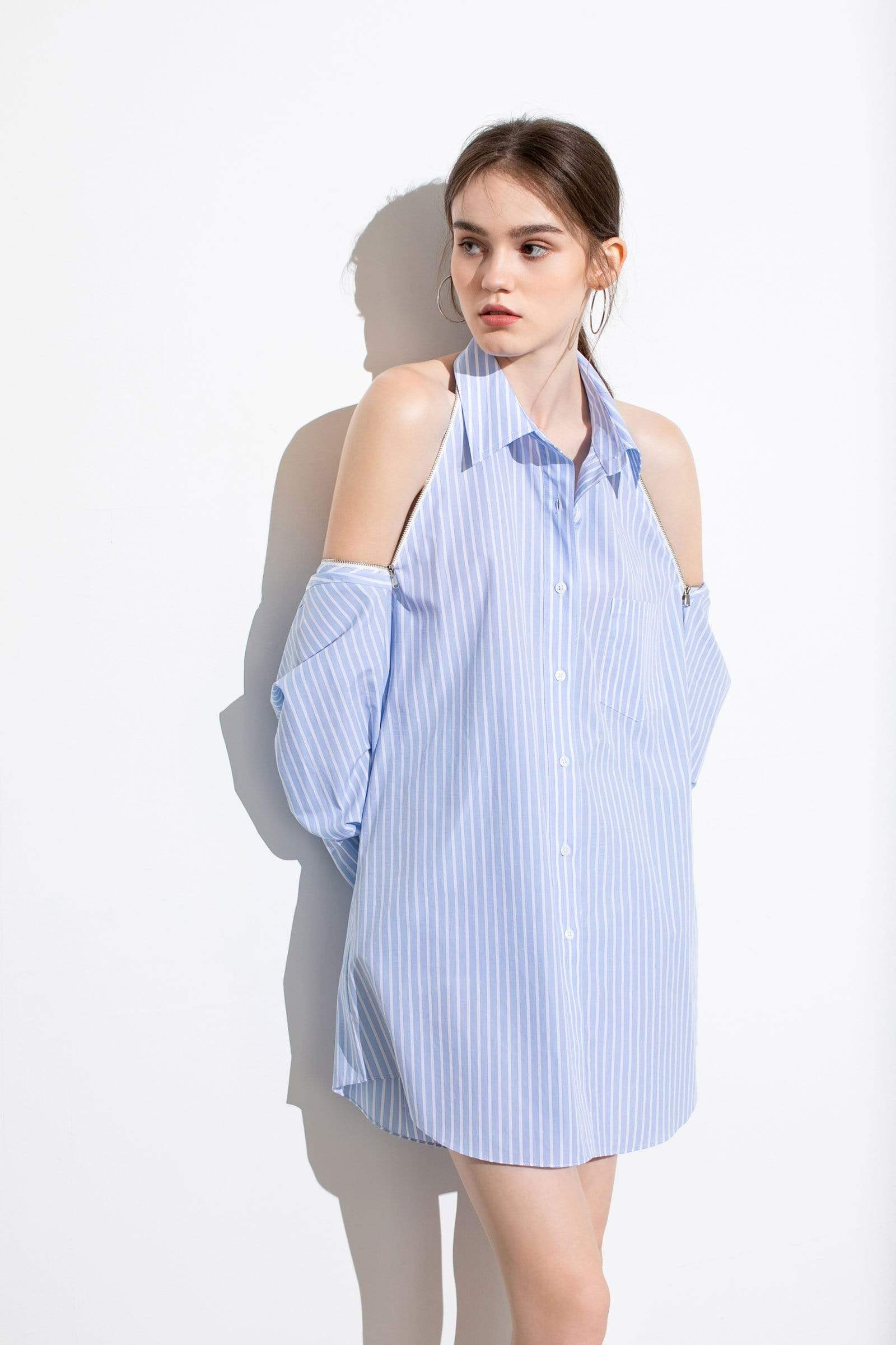 Charlie Striped Boyfriend Shirt Dress