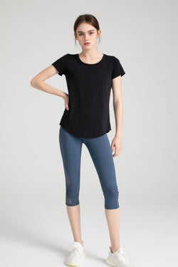 Carbon Black Active Tee