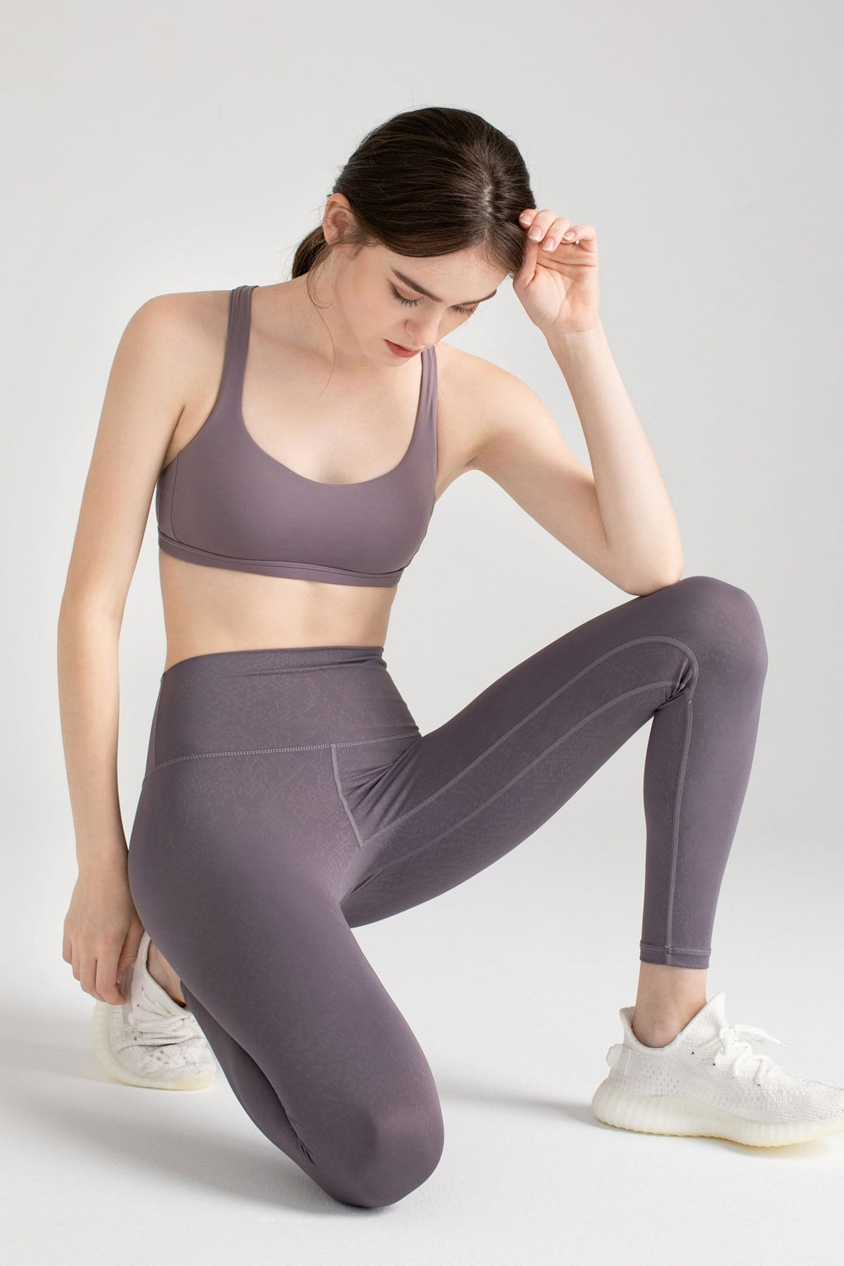 Powdered Violet Brushed Leggings